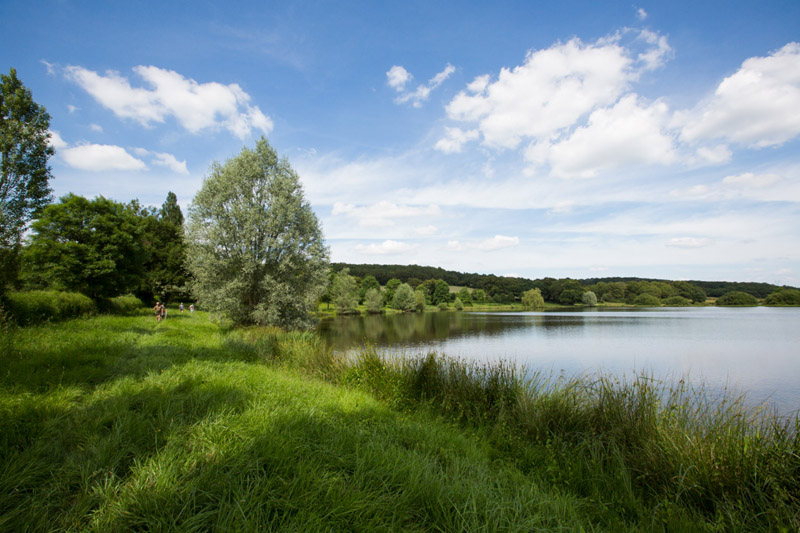 Mosaique bocagère - Vue sur l'étang communal © hellio - van ingen